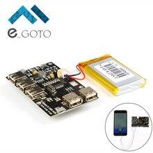Buy Power Supply Board Module USB HUB Lithium Battery Module 5V 2A for Raspberry Pi 3 Zero/3B/2B/B