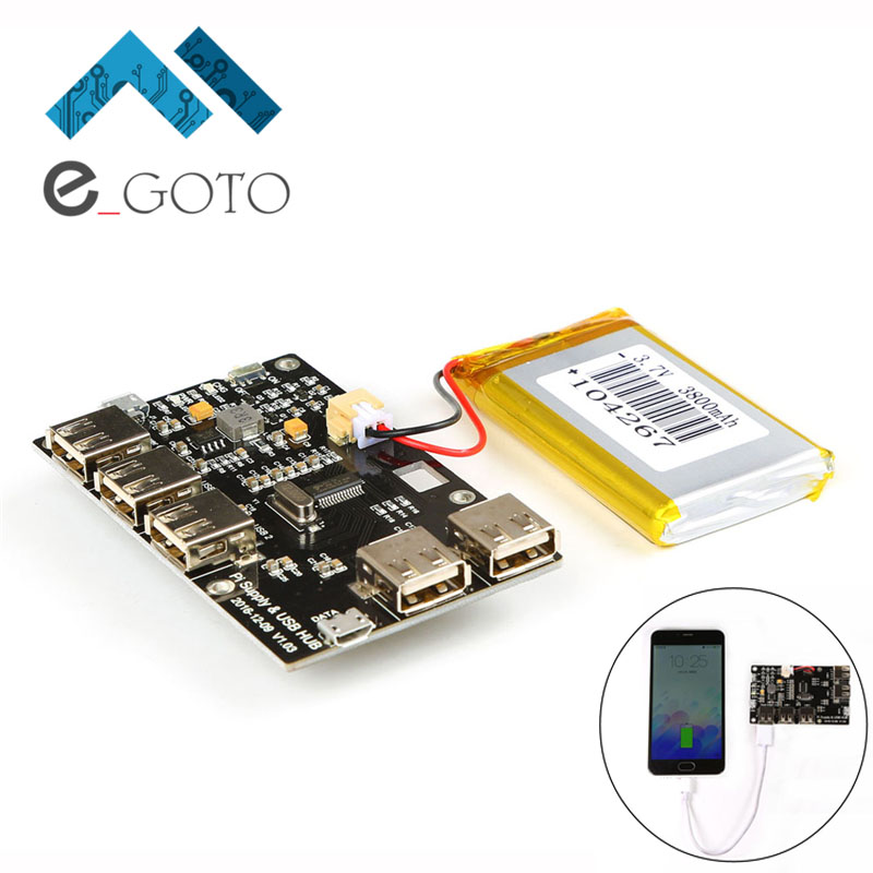 Power Supply Board Module USB HUB Lithium <font><b>Battery</b></font> Module 5V 2A for <font><b>Raspberry</b></font> <font><b>Pi</b></font> <font><b>3</b></font> Zero/3B/2B/B
