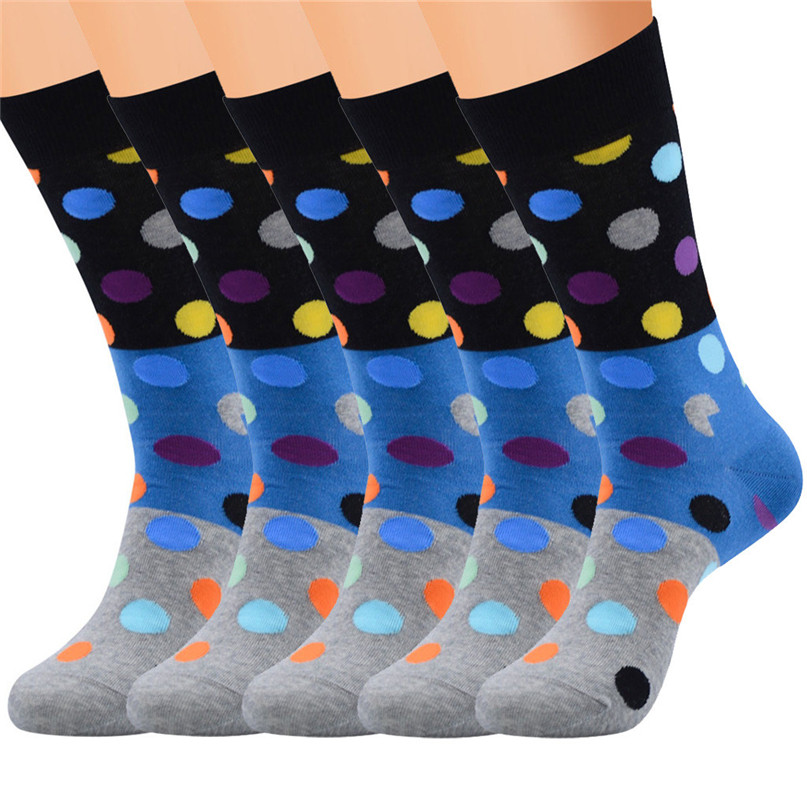 Men Accessories 5 Pairs Men`s Colorful Funny Novelty Crazy Combed Cotton Casual Socks Sport Foot Sock 30LY18 (18)
