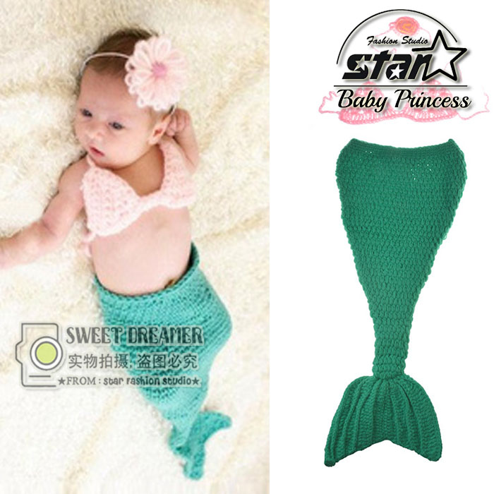 Meimaid Baby Girls Dresses Cute Green Fishtail Tutu Set Months Under The Sea Photo Prop Outfit Fishy Halloween Costume