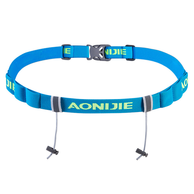 AONIJIE Unisex Triathlon Marathon Race Number Belt With Gel Holder Running Belt Cloth Belt Motor Outdoor Sports Running