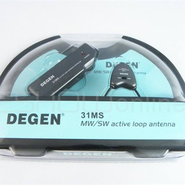 Горячие продажи рецепторов Degen DE31MS Крытый Active Soft Loop Антенна для MW & SW A0797A Fm-радио Оптовая радио антенна freeshipping