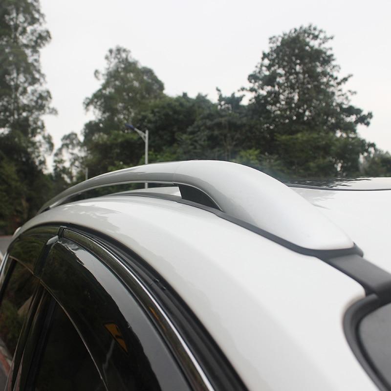 цена на Car Styling Aluminium Alloy Top Roof Rails Racks Side Bars Luggage Carrier Racks For Ford Escape Kuga 2013 2014 2015 2016 2017