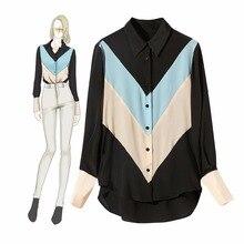 Brand new women 100% silk long sleeve Shirts Chic elegant OL shirt tops Fashion silk shirts & blouses A199