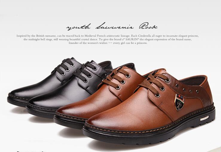 2015 году новые люди из натуральной кожи мода кружева-up свободного покроя мужчины туфли оксфорд обувь для мужчин sapatos коричневый / черный