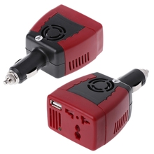 Practical Car Power Inverter Charger Adapter 12V DC To 110/220V AC+USB 5V 150W