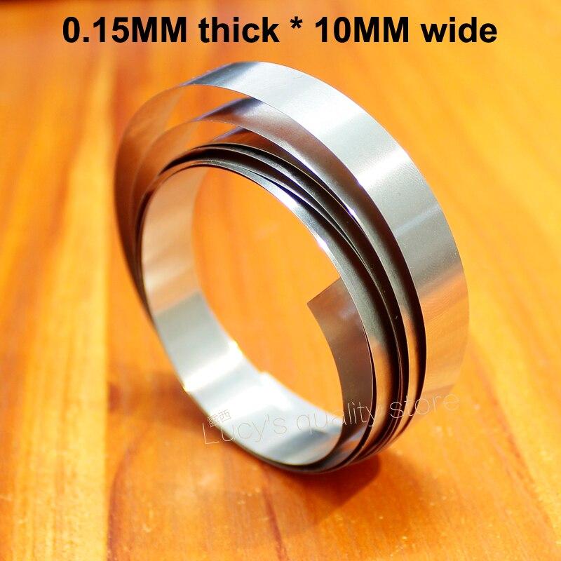 Купить с кэшбэком 1M nickel-plated steel belt 18650 32650 battery combination nickel-plated DIY spot welding nickel strip 0.1/0.15/0.2 thickness
