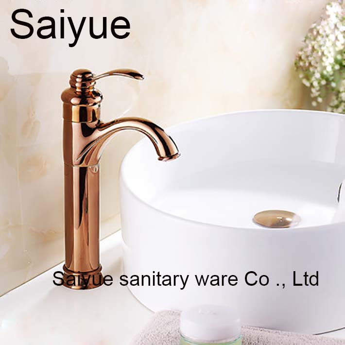 Royal Kitchen Sink Royal luxurious long brass single handle kitchen bathroom hot cold royal luxurious long brass single handle kitchen bathroom hot cold basin water sink mixer taps faucet rose gold in basin faucets from home improvement on workwithnaturefo