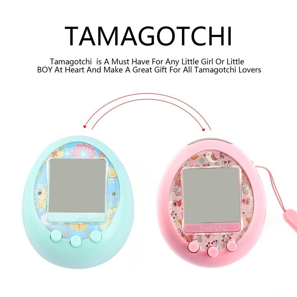 Tamagochi electrónicos mascotas electrónicas juguetes 90 s nostálgico 49 mascotas en Virtual Cyber juguete máquina de interacción en línea E- pet Tamagochi Gif