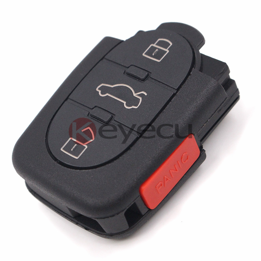 10PCS/LOT New Uncut Keyless Entry Remote Car Key 3+1 Button 315MHz Fob for Audi 4D0 837 231 M