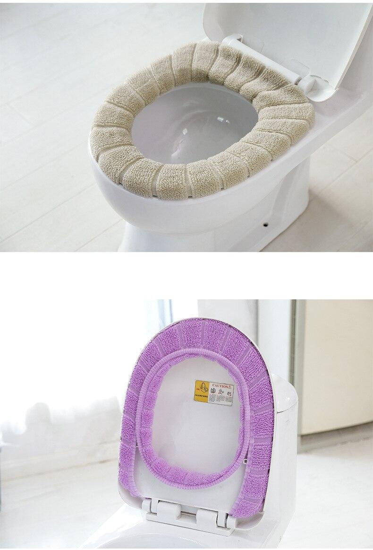 Горячая удобные бархатные коралловые крышки для ванной унитаза моющиеся стандартные мягкие тыквенные ленты для унитаза