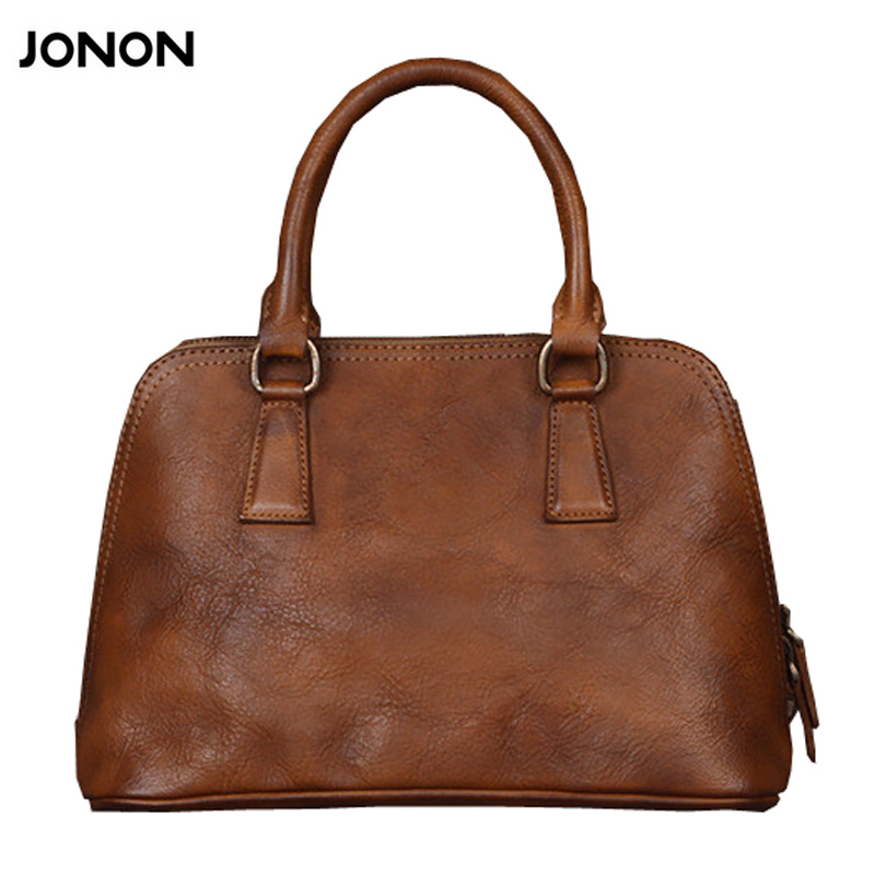 Jonon Fashion Women Leather Handbags Vintage Women Shell Bag 2016 Designer Brand Leather Bags Woman bolsos mujer sac a main jonon luxury brand designer messenger bag women 100