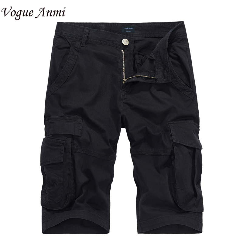 Vogue Anmi 2018 New Arrival Cargo Shorts Men Casual Design Military Fashion Shorts Homme Cotton Loose Quality Clothing Men Short
