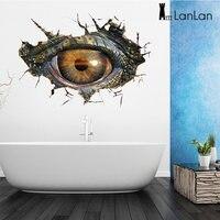 LanLan 3D 공룡 눈 벽 스티커, 이동식 벽 비닐 벽화 휴식, 자체 접착 홈 장식 예술 Decals-30