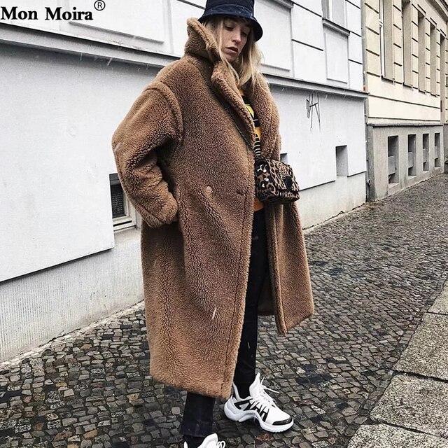 famosa marca de diseñador precio de calle seleccione para genuino € 53.58 49% de DESCUENTO|Abrigos de piel de cordero sólido mujeres 2018  invierno grueso abrigo de peluche de gran tamaño y chaquetas de mujer  abrigos ...