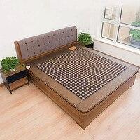 Envío Gratis colchón de cama individual Jade + cojín de calefacción turmalina colchón de salud colchón térmico infrarrojo lejano 1 2*1 9 m 220 V|cushion pink|mattress chair|cushion heel -