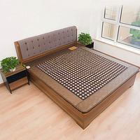 Free Shipping Single Bed Mattress Jade+Tourmaline Heating Cushion Health Mattress Far Infrared Thermal Mattress 1.2*1.9m 220V