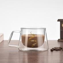 цена на Double Wall Mug Office Mugs Heat Insulation Double Coffee Mug Coffee Glass Cup Drinkware Milk Drophipping 2019