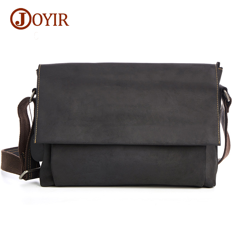 Joyir Cross body Bags For Men Genuine Leather Bag Shoulder Retro Vintage Man Casual Bag Male Leather Messenger Bags Handbags B96