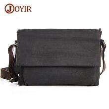Joyir Cross body Bags For Men Genuine Leather Bag Shoulder Retro Vintage Man Casual Bag Male Leather Messenger Bags Handbags B96