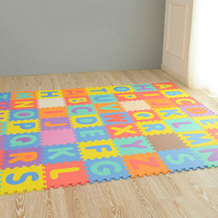 Kid's Multicolored Numbers Puzzle Play Mat EVA Drop proof Moisture proof Bubble Mat M09