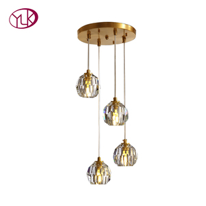 Image 5 - Nordic moderno pingente luzes restaurante único/4 cabeça bolas de vidro pendurado lâmpadas sala jantar espiral loft pingente luminárias