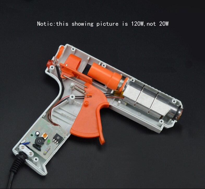 Термоклеевой пистолет с 10 шт. 7 мм* 100 мм DIY клей-палка промышленные мини пистолеты термоэлектрический тепловой температурный инструмент