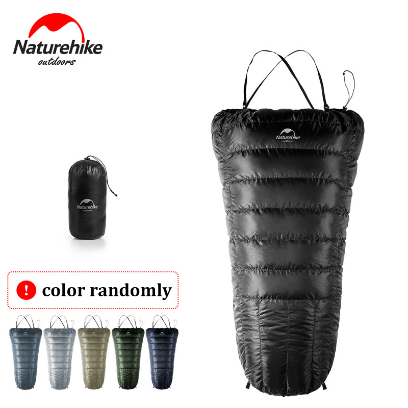 NatureHike New Special Design Half Chest Ultralight Suspender Sleeping Bag Goose Down Lazy Bag Camping Sleeping Bags NH17S018-D стоимость