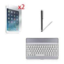 Aluminium Wireless Bluetooth 3.0 Removeable Keyboard Metal Case Cover For Apple iPad Air 1 2 iPad5 iPad6 9.7″ +2x Films +Stylus