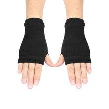 New Sale Black Elastic Acrylic Fingerless Winter Knitted Gloves for Women