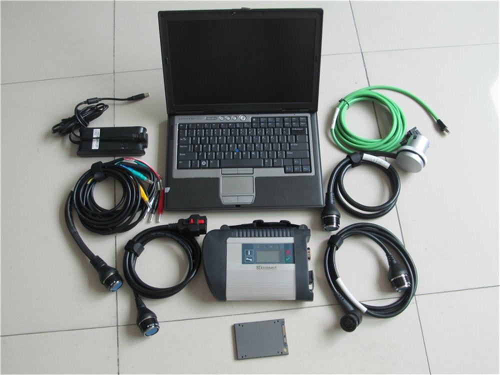 SD connect c4 avec SSD 03.2019 logiciel dts fonction spéciale pour MB voiture camion bus de diagnostic avec d630 ordinateur portable déjà activé