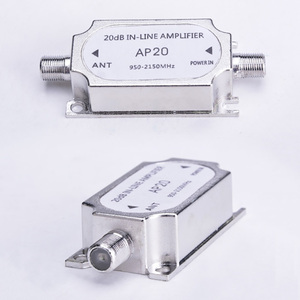 Image 4 - Wholesale Satellite TV Tuner Inline Amplifier 20dB Signal Booster Strengthen for Dish Network Antenna All Satellite Applications