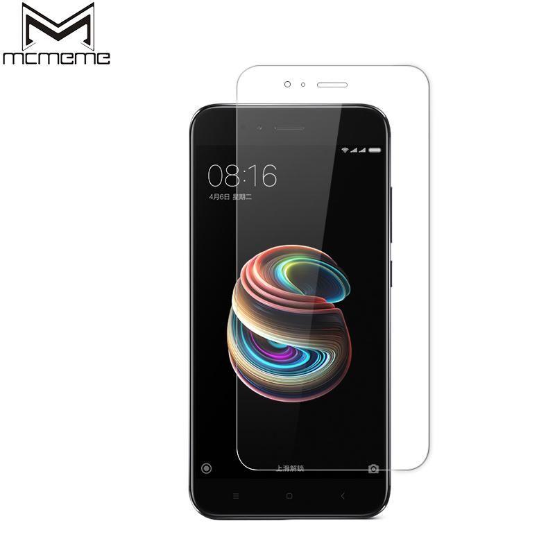 MCMEME For Xiaomi Mi A1 Tempered Glass 9H Slim Explosion-proof HD Screen Protector For Xiaomi Mi 5X MiA1 Mi A1 Protective Film