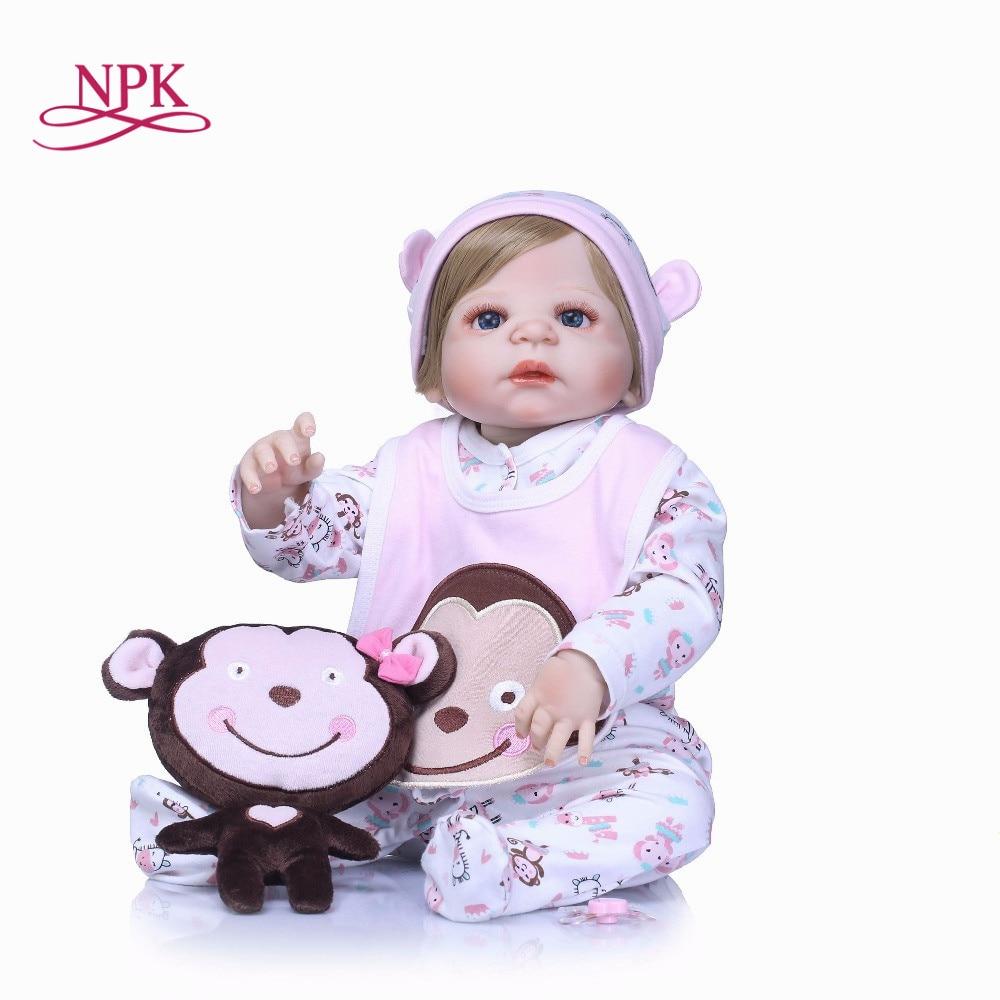 NPK Lovely Girl Princess Reborn Baby Dolls 23'' Full Silicone Body Lifelike Baby Dolls with Hair So Truly Reborns kids Birthday : 91lifestyle
