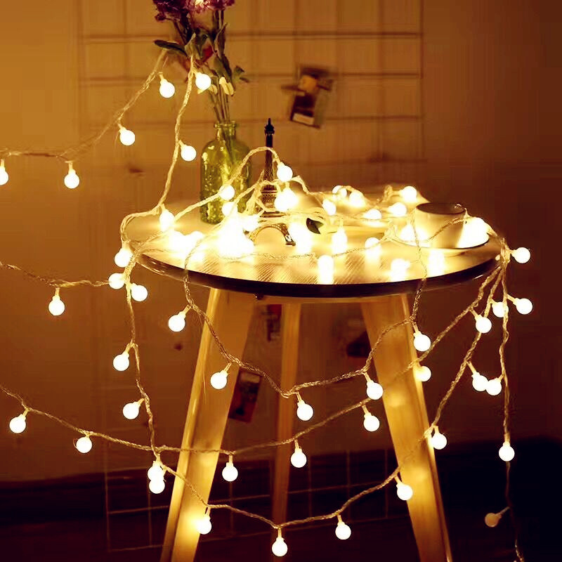 Holiday Light Chains LED Balls String Lighting 3M 6M USB Ball Bulb Light String Waterpro ...