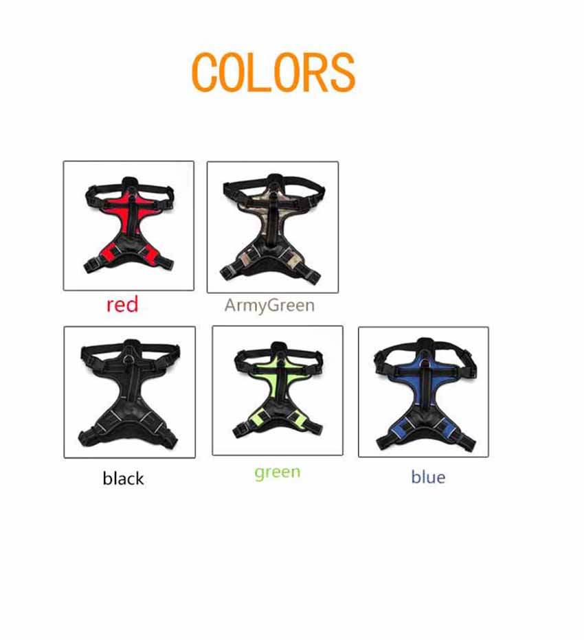 BOLUX Adjustable Dog Harness For Dogs Large Small Bull