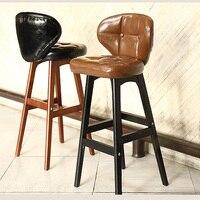 Новый роскошный 100% Высокое качество Дуб кожаный стул для бара Европа барная мебель кожа Мебель для гостиной высокий стул