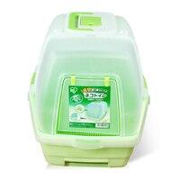 Туалетов горшок кошка песком Совок Scooper коробка продукты легко учиться Cat Туалет Обучение Пластик Помет Лоток санитарно Pet wc qqm2447