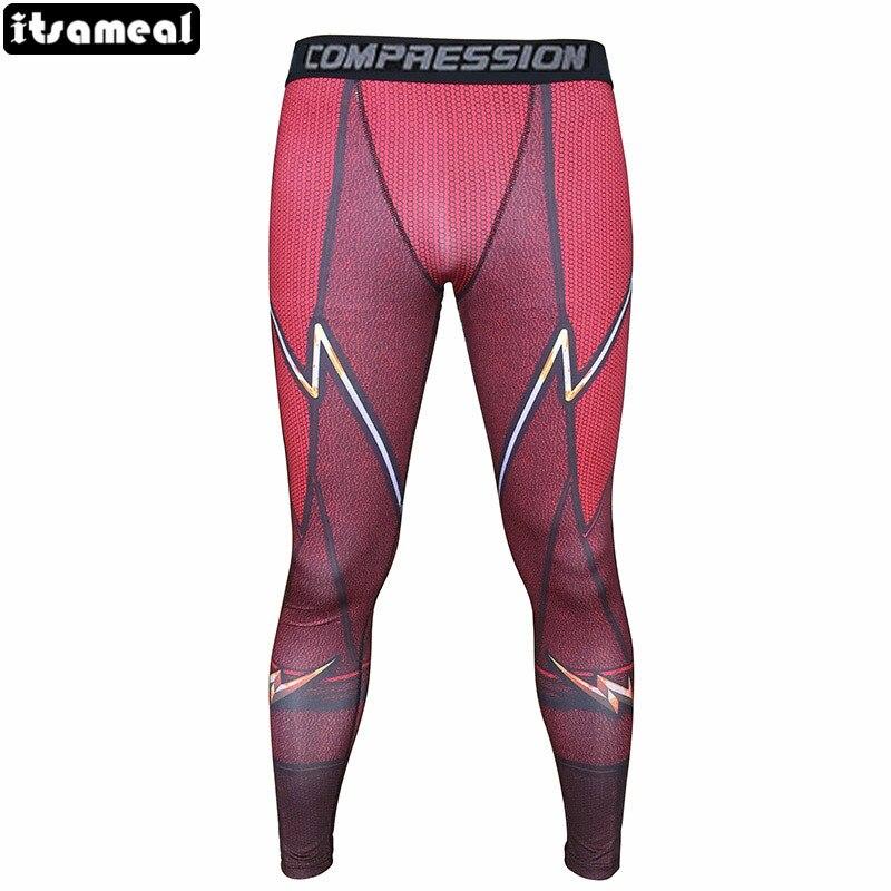 Man captain america spiderman iron man black panther compression leggings