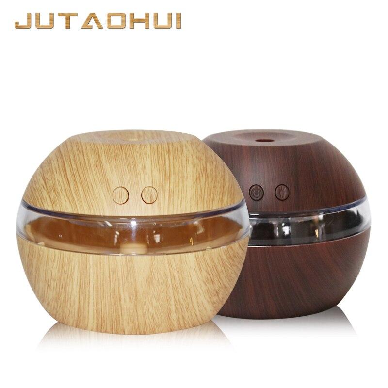 mini usb Air Humidifier Wood Grain Aroma Diffuse Desk Humidificador decoration Essential Oil Mist Maker LED