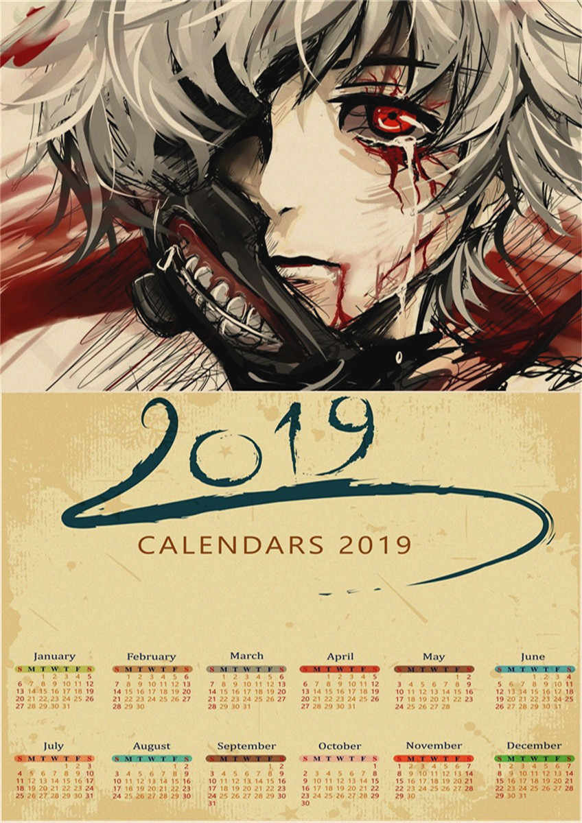 Anime February Calendar 2019 Detail Feedback Questions about Vintage Japanese anime Tokyo Ghoul