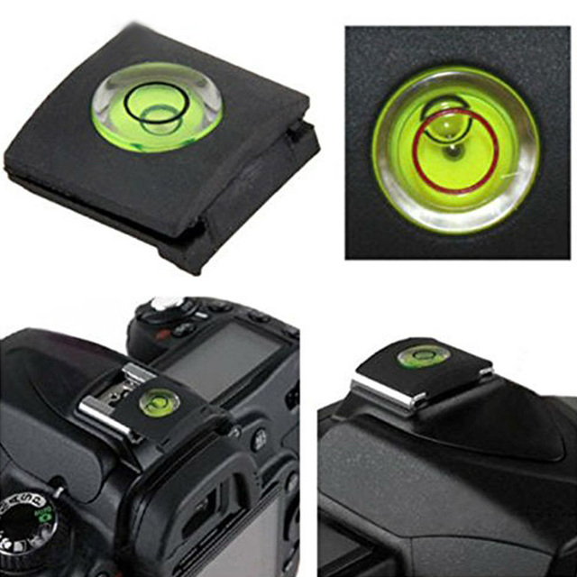 Woopower Camera Accessories Hot Shoe Flash Shoe Protective Cover Cap With Bubble Spirit Level for Nikon Canon Fuji 0lympus