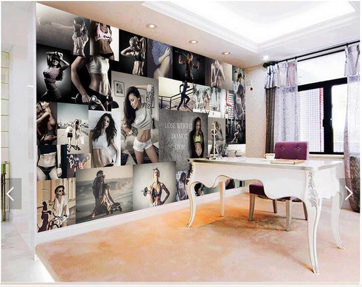 3d photo wallpaper custom 3d TV wallpaper murals Fitness beauty photo wall background wall 3d living room wallpaper in Wallpapers from Home Improvement