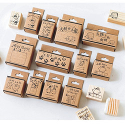 Mo. Karte tier katze designs holz stempel Dekorative DIY schreibwaren scrapbooking Einzelhandel