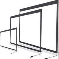 10 touch points 55 inch IR Touch Screen Frame,interactive multi touch overlay 10 Touch Points,Stable and no drift