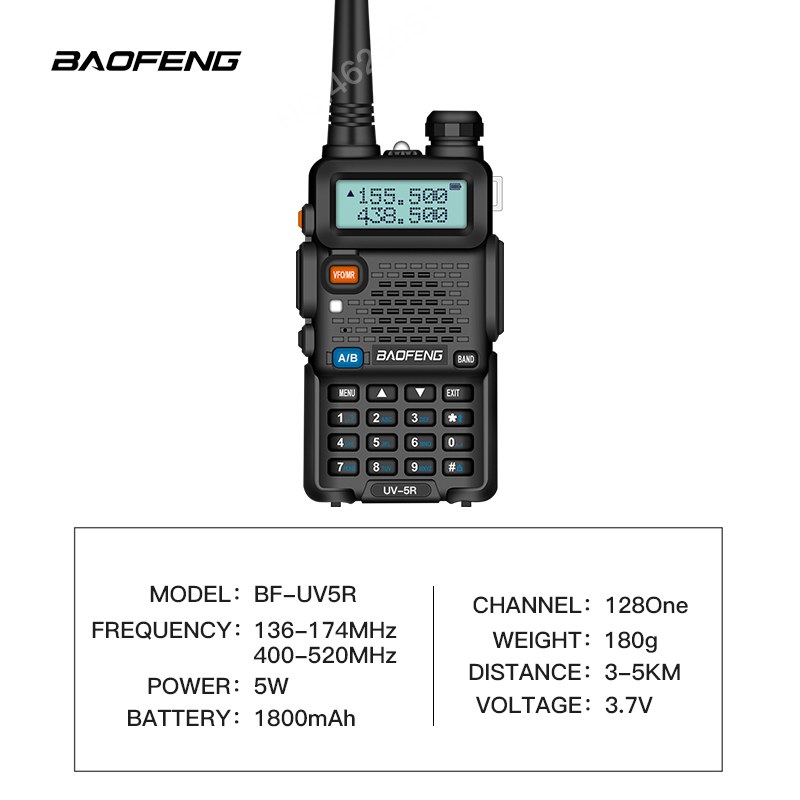 Image 2 - BAOFENG UV 5R Walkie Talkie Professional CB Radio 5W UV dual band two way radio for talkie walkie in moscow Hunting Ham Radio-in Walkie Talkie from Cellphones & Telecommunications