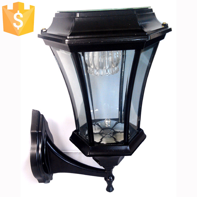 Solar Wall Light 2 Leds Solar Powered Light Outdoor Garden Yard Path Wall Landscape Lamp Black Lantern Light Lamps home house outdoor candle lantern ni mh solar powered landscape umbrella lantern hang lamp led bulbs light hm184