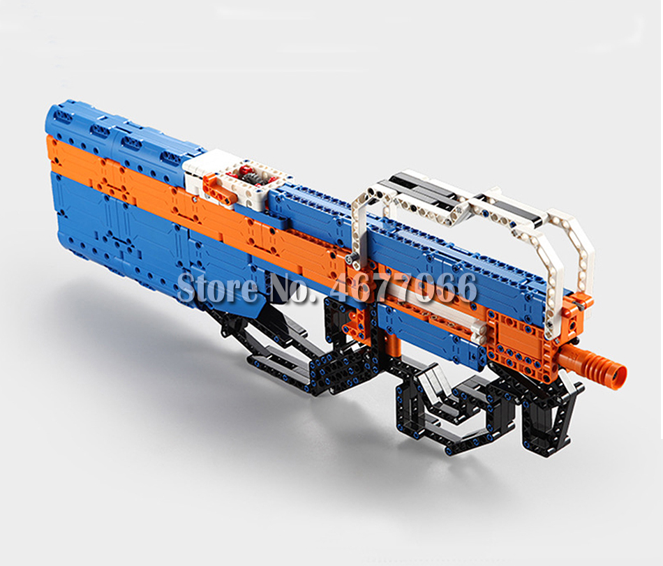 Legoed gun model building blocks p90 toy gun toy brick ak47 toy gun weapon legoed technic bricks lepin gun toys for boy 152