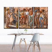 Xh2239 Abstract African People Canvas Oil Painting Art Prints Poster For Living Room And Study Room