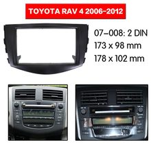 Kit de Marco multimedia para Radio de coche para Toyota RAV4 2006-2012 Facia Panel embellecedor Dash CD doble Din Kit de montaje de Panel de bisel de Audio(China)